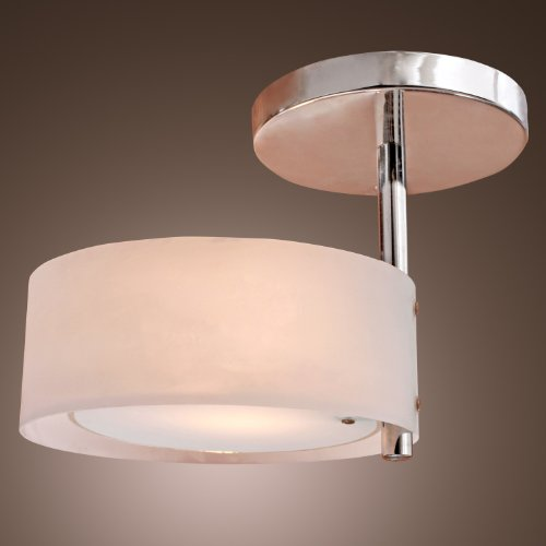 Lightinthebox Modern Chrome Finish Acrylic Chandelier, Mini Style Flush Mount Ceiling Light Fixture For Garage, Hallway, Bedroom, Living Room