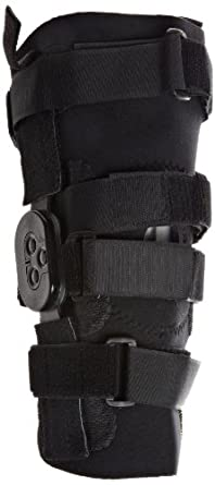 "Scott Specialty 3530-258-400 Hinged Knee Support with Universal Felt Butress, Medium, 13"" Length"