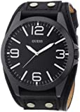 Guess Herren-Armbanduhr XL Mens Trend Analog Quarz Leder W0181G2