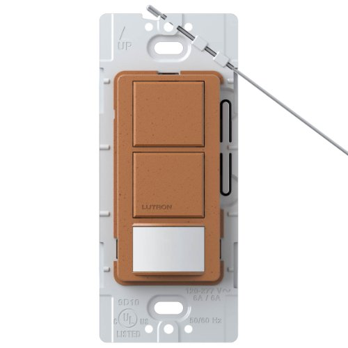 Lutron MS-OPS6-DDV-TC Maestro 6-Amp Single Pole Dual Circuit Occupancy Sensing Switch, Terracotta