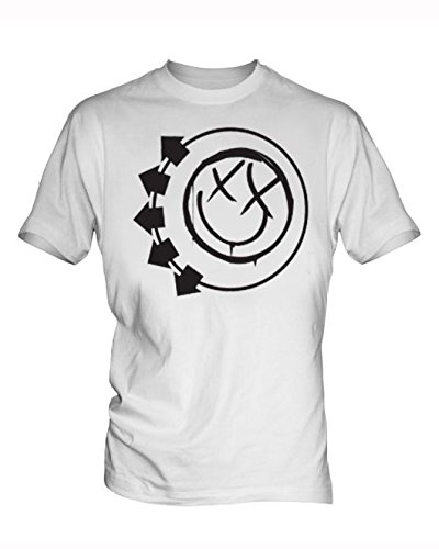 Blink 182 5 Uomo White T Shirt