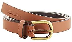 Garvan Women's Lt.Brown Leather Belt (LBW 3-Lt.Brown, Size : 28)