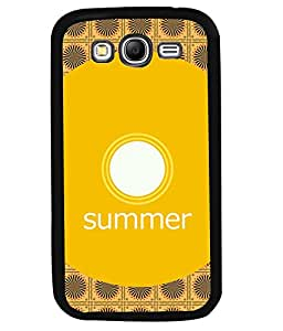 PRINTVISA Summer circle Premium Metallic Insert Back Case Cover for Samsung Galaxy Grand Neo - I9060I - D5663