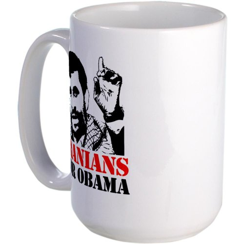 Cafepress Iranians For Obama Large Mug Large Mug - Standard