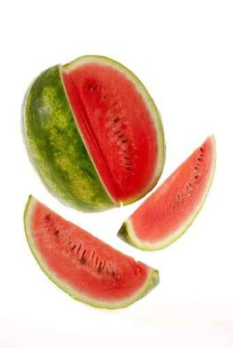 Food Wall Decals Watermelon And Slices - 60 Inches X 40 Inches - Peel And Stick Removable Graphic