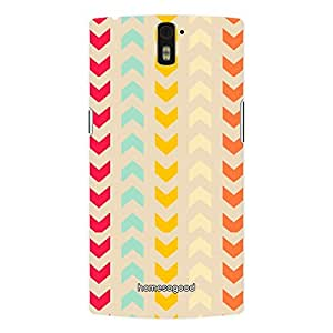 HomeSoGood Up Down Colored Pattern 3D Mobile Case For OnePlus One (Back Cover)