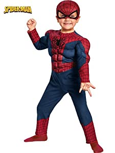 Disguise Marvel The Amazing Spider-Man 2 Movie Spider-Man Toddler Muscle Costume by Disguise