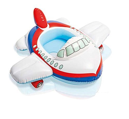 Intex Kiddie Inflatable Swim Pool Water Float Ring Cruiser Aeroplane Shape For Ages 1 Years