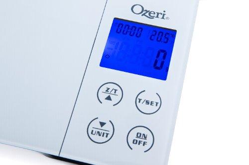 Ozeri Gourmet - Balance de cuisine digitale avec timer, alarme et température