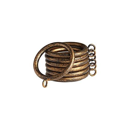 Fleuron Enterprises Hardware Decorative Metal Ring With Detachable Clip Antique Gold Finish 8