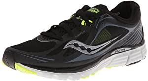 Saucony Men's Kinvara 5 Running Shoe,Black/Grey/Citron,10.5 M US
