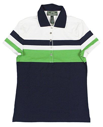 Ralph Lauren Active Women'S Color-Blocked Golf Polo Shirt Medium Navy/Green
