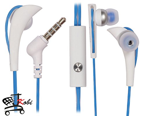 Lightweight Sports/Running and Gym/Exercise Curve Design In Ear Bud Earphones Handsfree Headset Panasonic T45 4G with Mic- BLUE