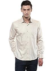 GIVO Beige Printed Casual Shirt