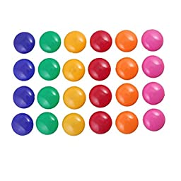 FACTORY PRICE Islandoffer 24 Pcs Presentation Whiteboard Colors Round Magnetic Button