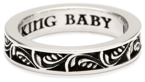 King Baby Stackable Floral Patten Ring, Size 10