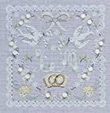 DMC Wedding Heart 14 Count Cross Stitch Kit, Multi-Colour