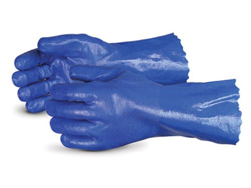 Superior N230FL Anti-Vibration Nitrile Coated Glove, Work, Chemical Resistant, 12 Length, X-Large, Blue (Pack of 1 Pair) just works metal hiking clip large sized 5 pack