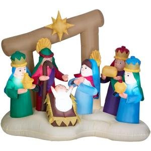 Airblown 6 ft Nativity Home Accents Holiday