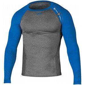 Rawlings Heat Fusion Comp L/S Shirt Gry/Ryl 2X Grey|Royal XX-Large