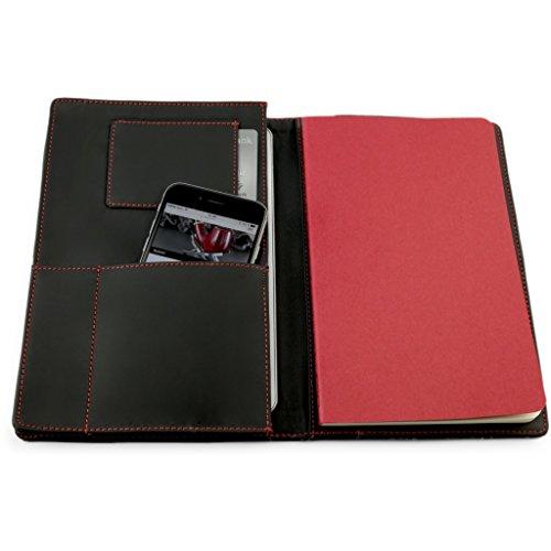 """A.P. Donovan - iPad Air 2 / iPad Pro 9,7"""" mezzo guscio Leather Organizer - Pelle Folio - Carta di credito Portafoglio - nero"""