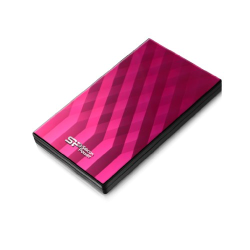 Silicon Power SP010TBPHDD10S3P Diamond D10 2.5-Inch 1 TB 3.0 Portable USB External Hard Drive (Pink)