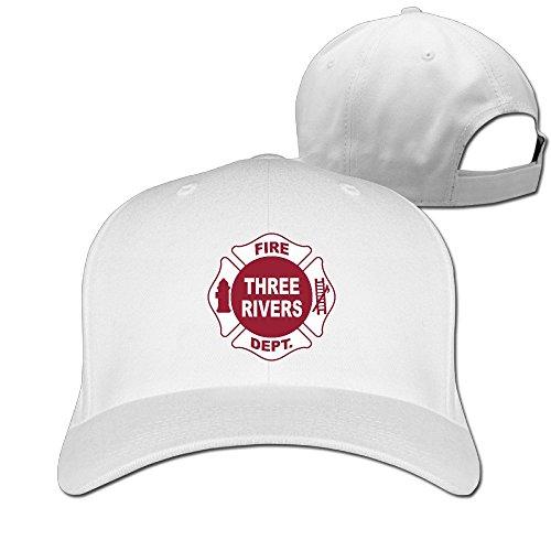 Runy Custom TRFD Logo Adjustable Hunting Peak Hat & Cap White