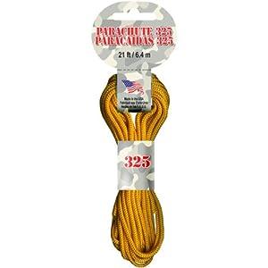 Parachute Cord 3mm 21'/Pkg-Goldenrod