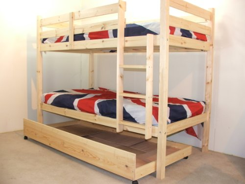Best Childrens BunkBed FT X FT Bunk Bed with storage and TWO sprung mattresses