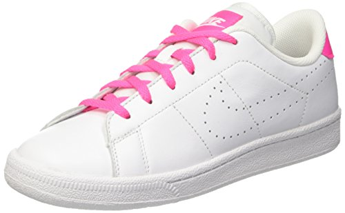 Nike Tennis Classic Prm (Gs), Scarpe da Ginnastica Bambine e Ragazze, Bianco (White/White-Pink Blast), 36 EU