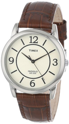 Timex Women's T2N6869J Elevated Classics Dress Honey Brown Leather Strap Watch