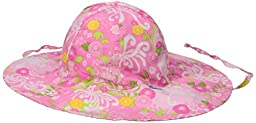 i play. Baby Girls\' Reversible Brim Sun Protection Hat, Pink Mum, 9-18 Months