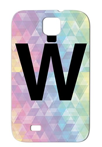 Black Shockproof Case Cover For Sumsang Galaxy S4 Helvetica W Per Initial Tshirt Letter T Shirt Art Gifts Monogram Decal Geeks Alphabet Letters Gear Symbols Shapes Font Clothing Technology Apparel Alphabet Merchandise Graphic Design Stuff Abbreviation Cha