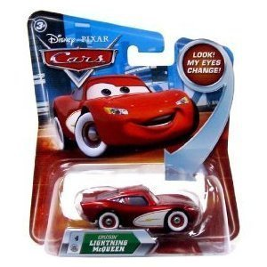 Disney / Pixar CARS Movie 1:55 Die Cast Car with Lenticular Eyes Series 2 Cruisin' Lightning McQueen