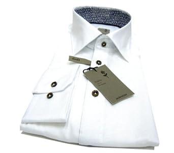 Schwarze Rose Herren Businesshemd Slim Fit 226248, Gr. 43, Weiß (01 weiß)