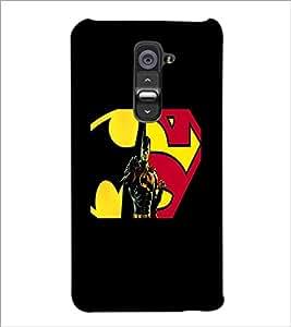 PrintDhaba Superman D-5563 Back Case Cover for LG G2 (Multi-Coloured)
