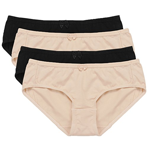Hesta-Womens-Organic-Cotton-Basic-Panties-Underwear-4-Pack