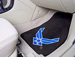 Air Force Falcons universal fit Carpet 2 Pc Car Floor Mat (Rug)