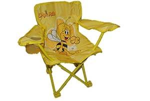 campingstuhl biene maja faltbar klappstuhl kinder kind willi flip bienen gelb spielzeug. Black Bedroom Furniture Sets. Home Design Ideas