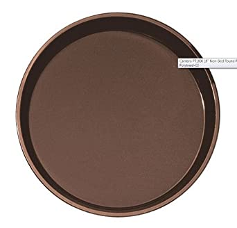 Cambro ( PT1600-110) Round Polypropylene Polytread Non-Skid Serving Tray, 16-Inch, Brown