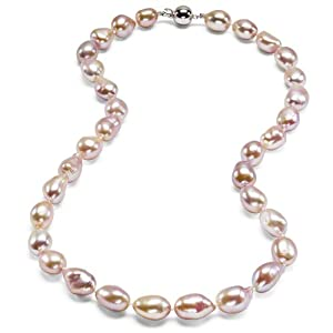 HinsonGayle Extreme Baroque Collection Handpicked Ultra-Luster 10-11mm Naturally Pink Baroque Cultured Pearl Necklace (Sterling Silver) {{{GET A FREE NECKLACE WITH COUPON AND $200 ORDER, SEE DETAILS BELOW}}}