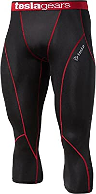 Tesla New Men's Cool Compression pants tights leggings capri sports Baselayer