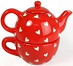 Hearts Design Tea For One - Tea Pot A...