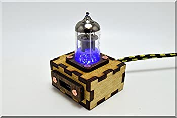 Handmade Wooden BLUE Pentode Radio Tube USB Cable Extention with Durable Knit Nylon Cable. ####### (Tags: Wood Handwork Handcraft Exclusive Unique Best Cool Great Retro Vintage Gadget USB HUB Device. Idea for Christmas New Year Birthday Present Gift. For