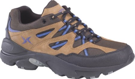 Women's Aetrex V751 Voyage Trail Runner (8 M U.S. in Brown/Periwinkle)
