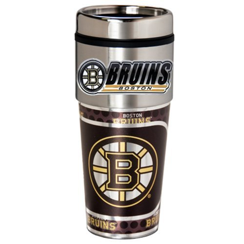 NHL Boston Bruins Metallic Travel Tumbler,  16-Ounce