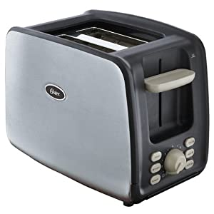 Oster 6340 2 Slice Toaster With Retractable Cord Brushed