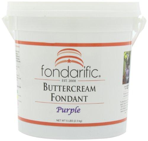 Fondarific Buttercream Purple Fondant, 5-Pounds front-58250