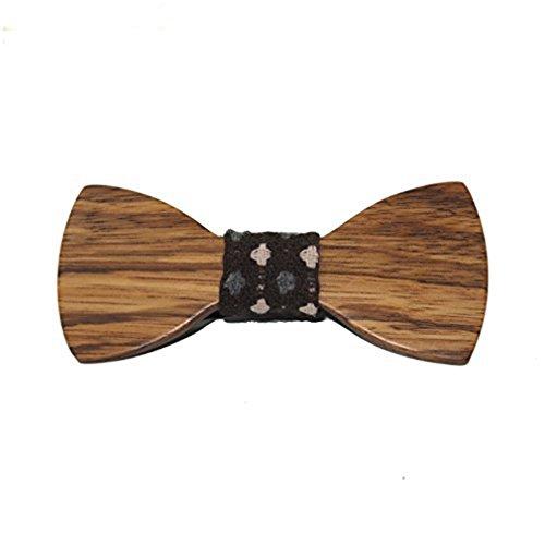 Hello Tie Men's Original Wood Color Wooden Bowtie Creative Present (Creative Bow Ties compare prices)