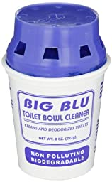 Big D 646 Blu Biodegradable Toilet Bowl Cleaner and Deodorizer, Blue Tint (Pack of 12)